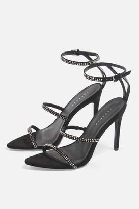 Topshop SAMIRA Diamante Heels