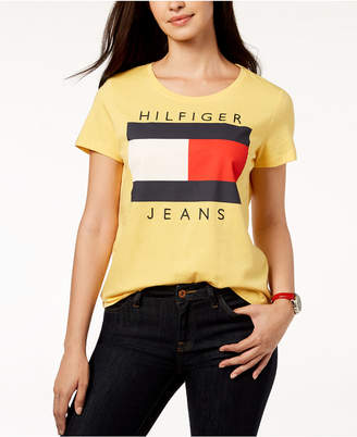 Tommy Hilfiger Cotton Embroidered Logo T-Shirt