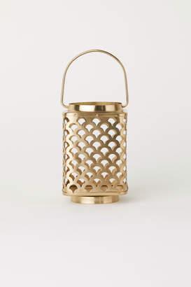 H&M Metal Candle Lantern - Gold