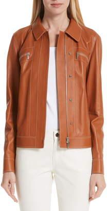 Lafayette 148 New York Kesha Leather Jacket