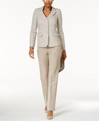 Le Suit Contrast Three-Button Pantsuit $200 thestylecure.com