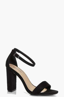 boohoo Block Heel Two Part Sandals