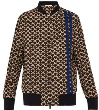 Valentino Scale Print Bomber Jacket - Mens - Brown