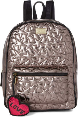 Betsey Johnson Luv Betsey By Pewter Phoebe Star Quilted Backpack