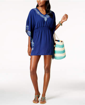 Dotti Fancy Stitch Embroidered Caftan Cover-Up Women's Swimsuit