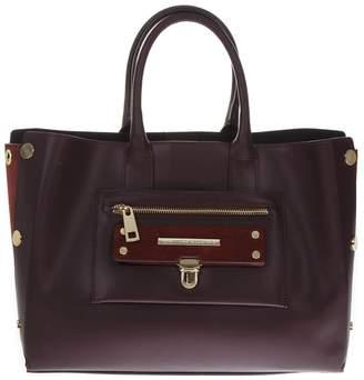 At Italist Marc Ellis Ivory Burgundi Leather Bag