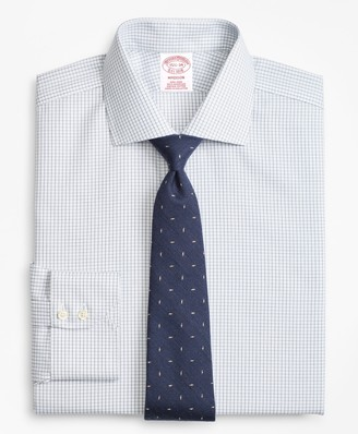 Brooks Brothers Madison Classic-Fit Dress Shirt, Non-Iron Windowpane