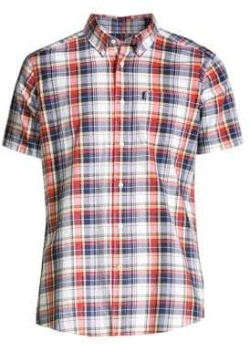 Barbour Shirt Shop Slim-Fit Plaid Short-Sleeve Shirt