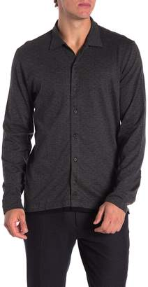 David Donahue Long Sleeve Jacquard Shirt
