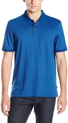 Calvin Klein Men's Liquid Cotton Short-Sleeve Stripe Polo Shirt