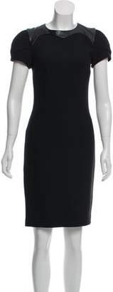 L'Agence Knit Crew Neck Dress