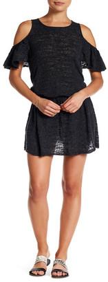 Minnie Rose Ruffalo Linen-Blend Knit Dress $128 thestylecure.com