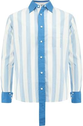Ports 1961 striped button shirt
