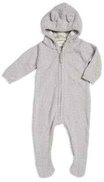 Cuddl Duds Baby's Hooded Knit Footie