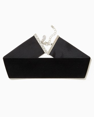 Wide Velvet Choker Necklace $8 thestylecure.com