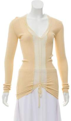 Jean Paul Gaultier Sheer Accented Long Sleeve Top