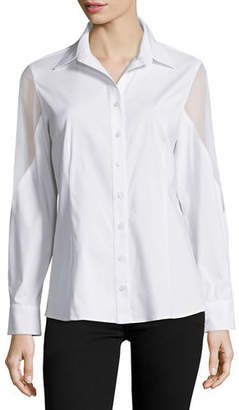 Josie Finley Burnout Button-Down Blouse
