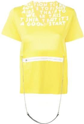 MM6 MAISON MARGIELA chain V-neck T-shirt