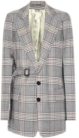 Gemina checked wool blazer