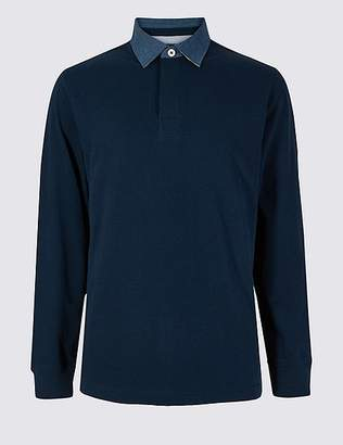 Marks and Spencer Pure Cotton Rugby Top