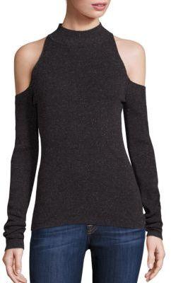 Bailey 44 Inspire Cold-Shoulder Mockneck Sweater $168 thestylecure.com