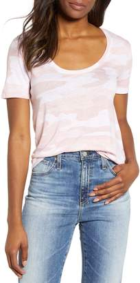 Lucky Brand Sketched Rose Camo Tee