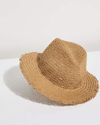 Jigsaw Frayed Edge Stitch Fedora Hat