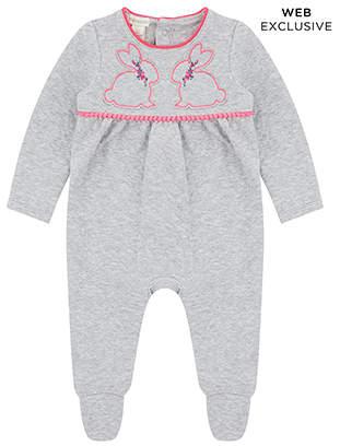Monsoon Newborn Baby Bunny Sleepsuit