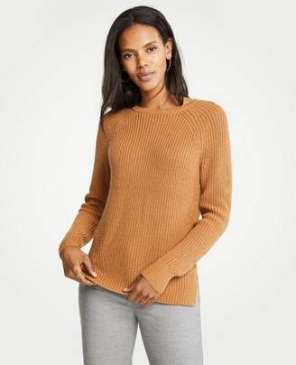 Ann Taylor Ribbed Crew Neck Sweater
