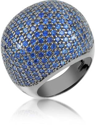 Ileana Creations Azhar Blue Cubic Zirconia Fashion Ring