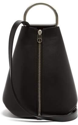 Proenza Schouler - Vertical Zip Leather Backpack - Womens - Black Multi