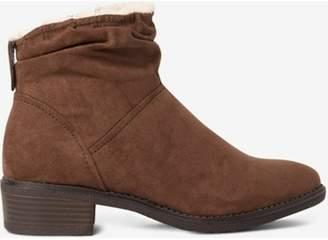 Dorothy Perkins Womens Mink Microfibre 'Monaco' Ruched Boots