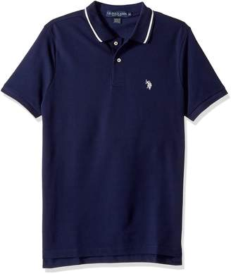 U.S. Polo Assn. Men's Slim Fit Solid Short Sleeve Pique Polo Shirt, S