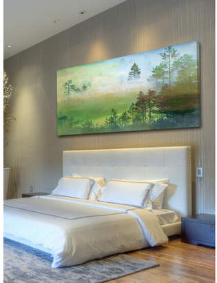 Parvez Taj Misty Pine Forest Canvas Wall Art