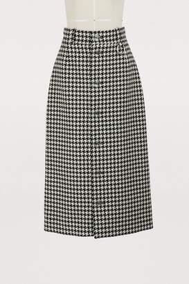 Balenciaga Midi buttoned skirt