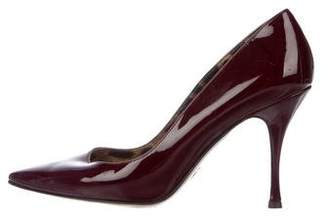 Dolce & Gabbana Patent Leather Pointed-Toe Pumps