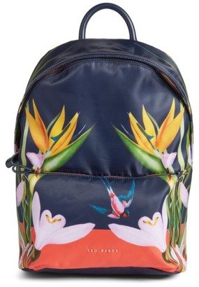 Ted Baker London Tropical Oasis Backpack - Blue $159 thestylecure.com
