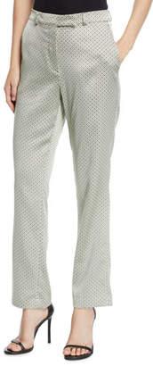 Etro Shiny Dobby-Jacquard Straight-Leg Pants