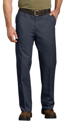 Dickies Genuine Men's Relaxed Fit Straight Leg Flat Front Flex Pant