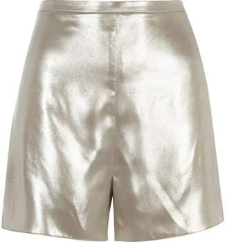 River Island Womens Silver high rise shorts