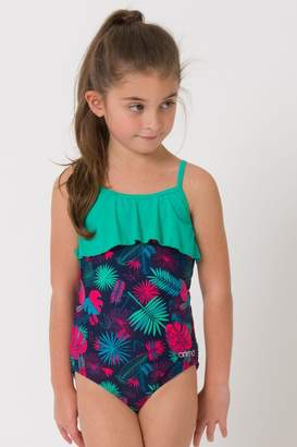 Animal Girls Blue Star Palm Swimsuit - Blue