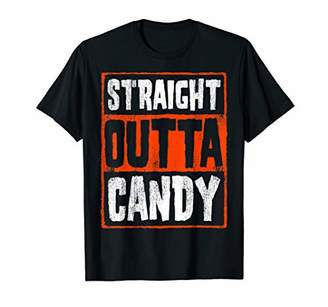 Straight Outta Candy Word Stack Halloween Graphic T-Shirt