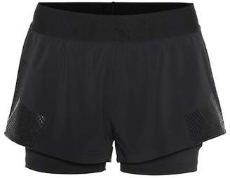 adidas by Stella McCartney Double layer running shorts