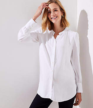 LOFT Maternity Crossover Back Yoke Blouse