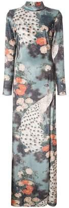 Patbo peacock print dress