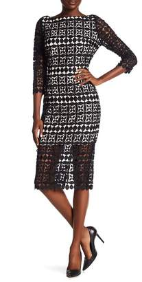 Alexia Admor Half Sleeve Boatneck Lace Dress