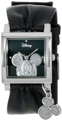 Disney Unisex MK1030 Mickey Mouse Black Strap with Icon Charm Watch