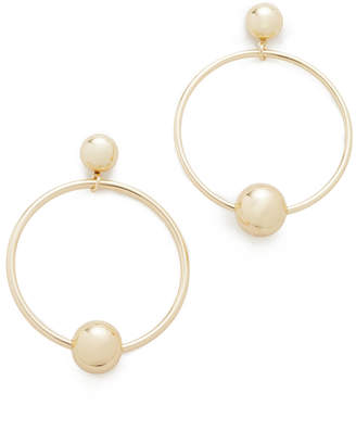 Shashi Tiffany Hoop Earrings $45 thestylecure.com