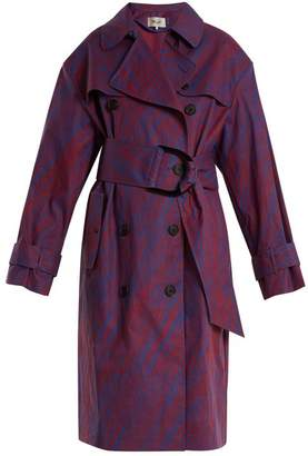 Diane von Furstenberg Visconti Print Cotton Blend Trench Coat - Womens - Red Multi