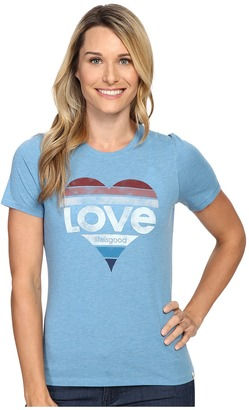 Life is good Love Heart Cool Tee $28 thestylecure.com